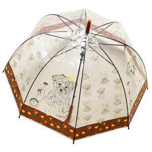 Зонт Собака красный
