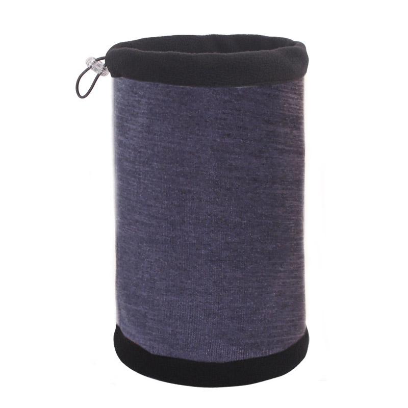 Зимняя шапка-шарф темно-серая