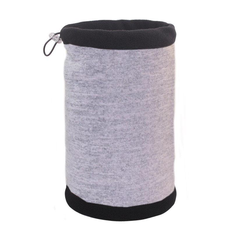 Зимняя шапка-шарф серая