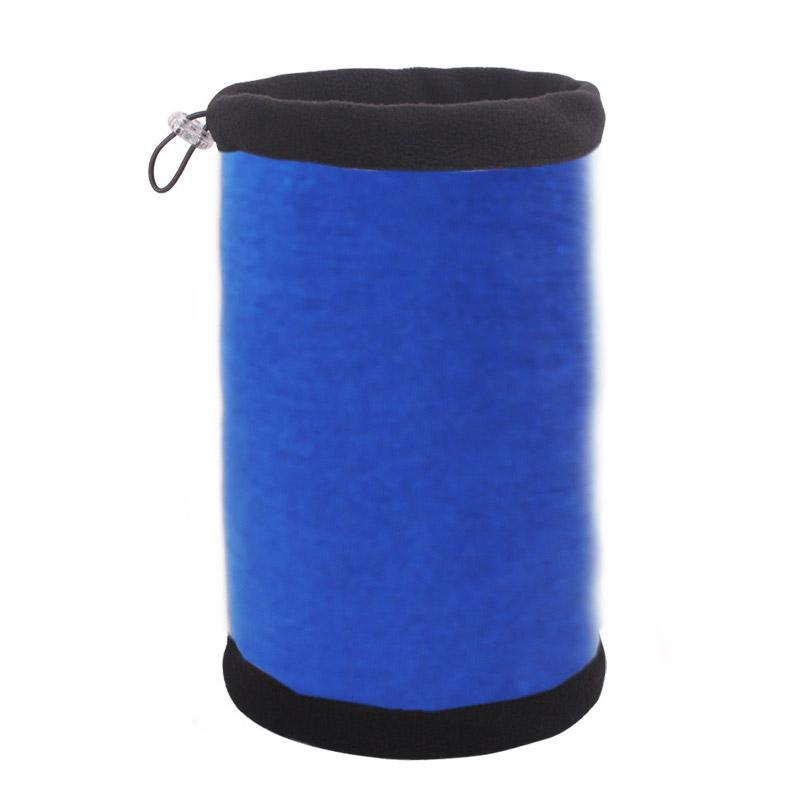Зимняя шапка-шарф синяя