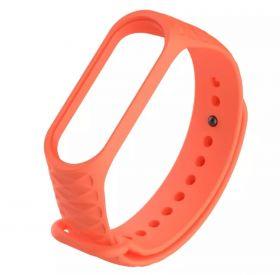 Ремешок для браслета Xiaomi Mi Band 3 рифленый (оранжевый)