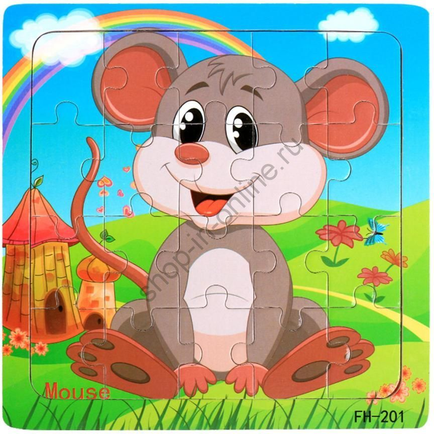 """Пазлы """"Животные"""" для детей от 1 до 5 лет"""