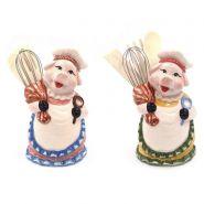 """Подставка с кухонными принадлежностями """"Свинка"""" L10, W8,5, H19,5 см, 2 вида в асс. (арт. 719295)"""