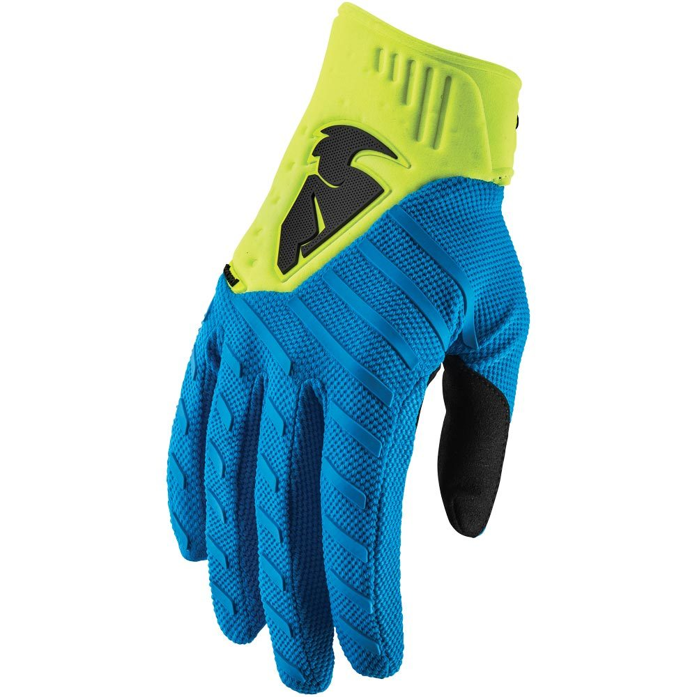 Thor - Rebound Blue/Acid перчатки, желто-синие