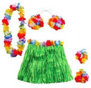 Набор Гавайской девушки (юбка, лифчик, браслеты)