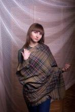 """Шотландский воздушный широкий палантин """"Старинный Стюарт"""", коллекция """"Брок"""" BROCK STEWART ANTIQUE LUXURY FINE STOLE, тонкорунная овечья шерсть и драгоценный кашемир, плотность 3"""