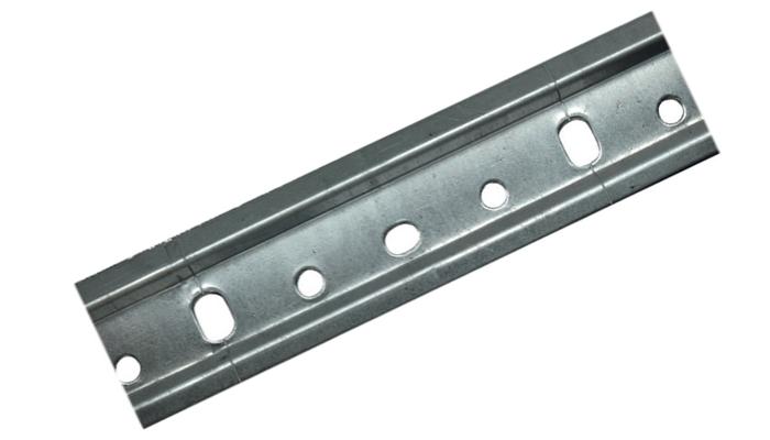 Шина для кухонных шкафов L-2m, толщина 44*1,0 мм (оцинкованная)