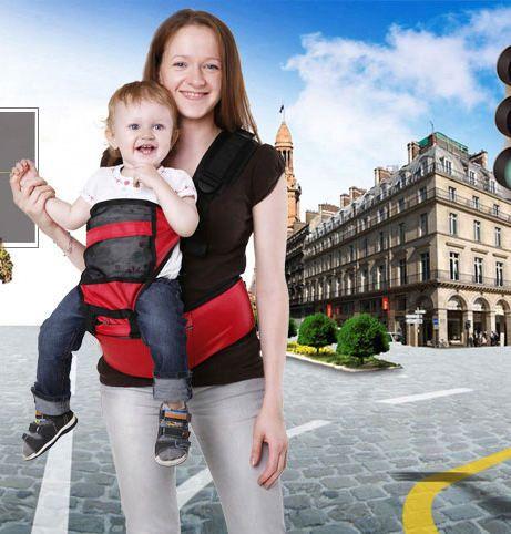 Многофункциональный хипсит со спинкой для переноски детей Hip Seat (Цвет: Красный)