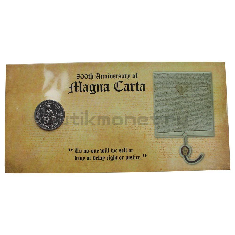 20 центов 2015 Австралия 800 лет Великой хартии вольностей (В буклете)