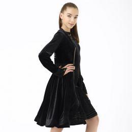 Танцевальный халат, черный со стразами