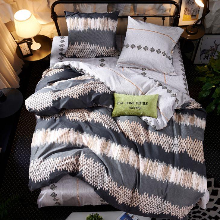 Комплект постельного белья Сатин 100% хлопок C299 1.5 спальное