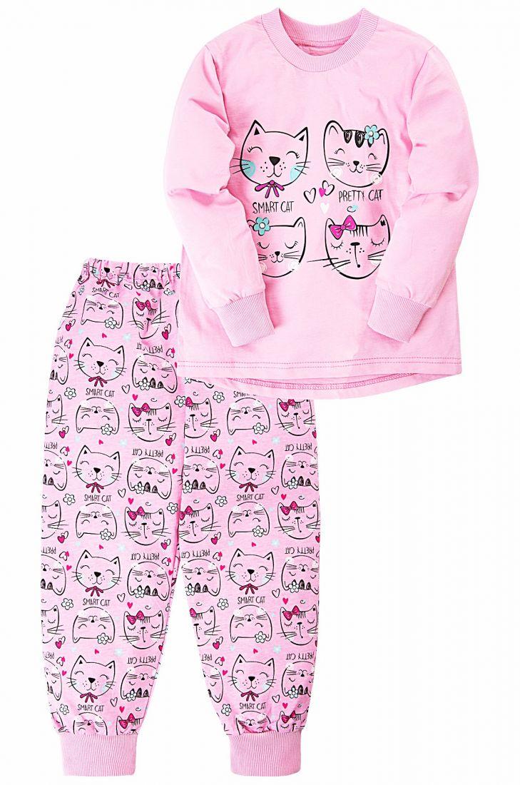Пижама для девочки розового цвета Котята