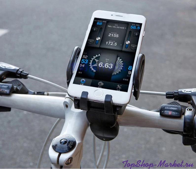 Держатель телефона на велосипед Bike Phone Support, Цвет: Голубой