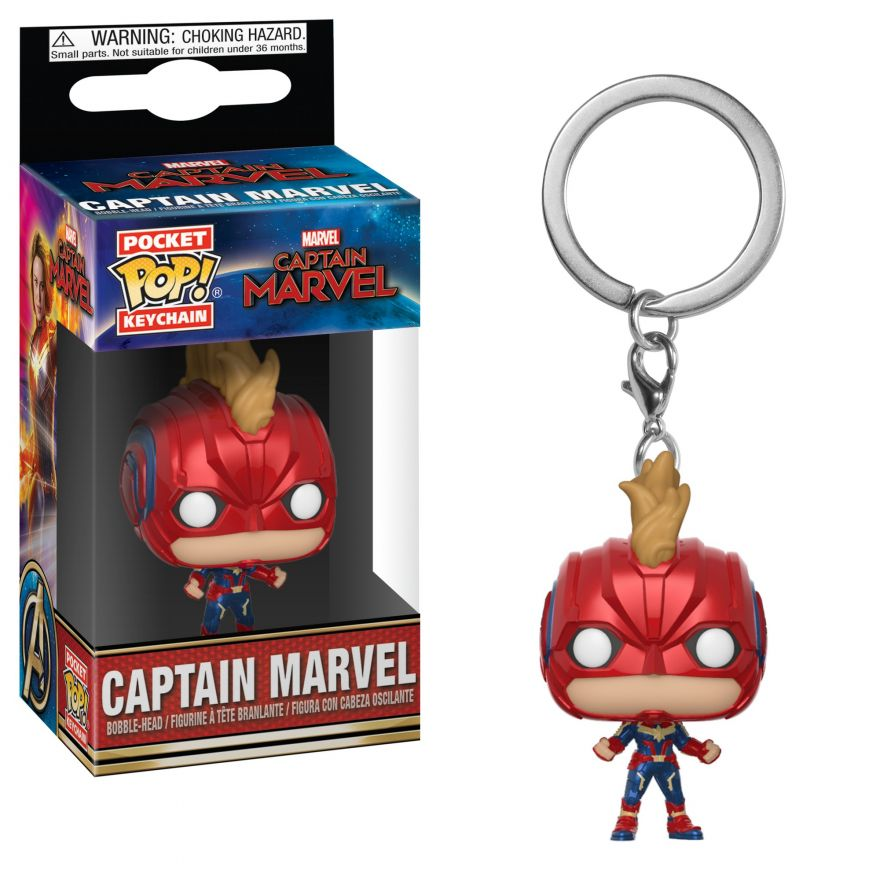 Брелок Funko POP! Keychain: Marvel: Captain Marvel: Captain Marvel (with Helmet) 36439-PDQ