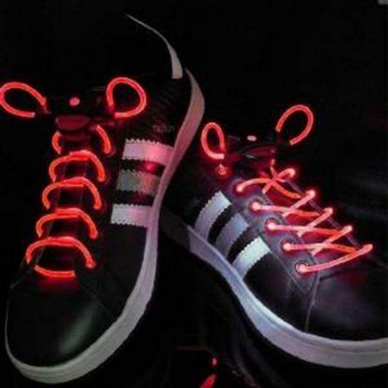 Шнурки с LED подсветкой, цвет красный