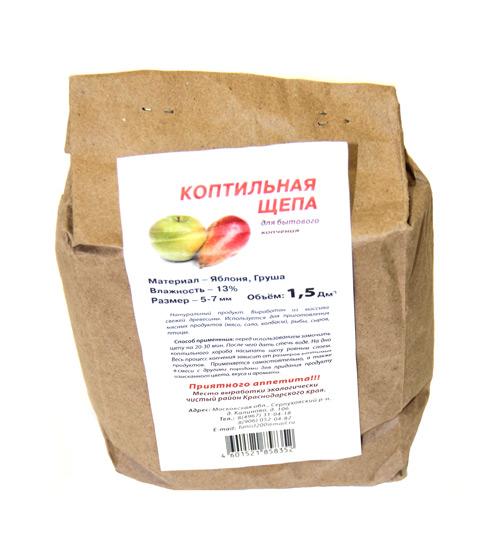 Щепа яблоня-груша  для копчения 1,5 л