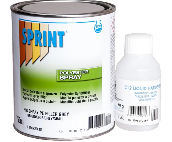 Sprint F18 Грунт ПЭ Шпатлевка жидкая Spray, 750мл.