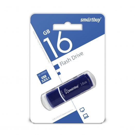 USB накопитель 3.0 Smartbuy 16GB Crown Blue