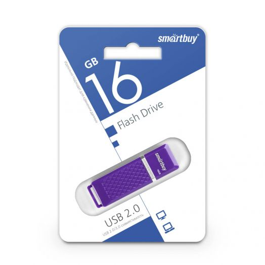 USB накопитель Smartbuy 16GB Quartz series Violet