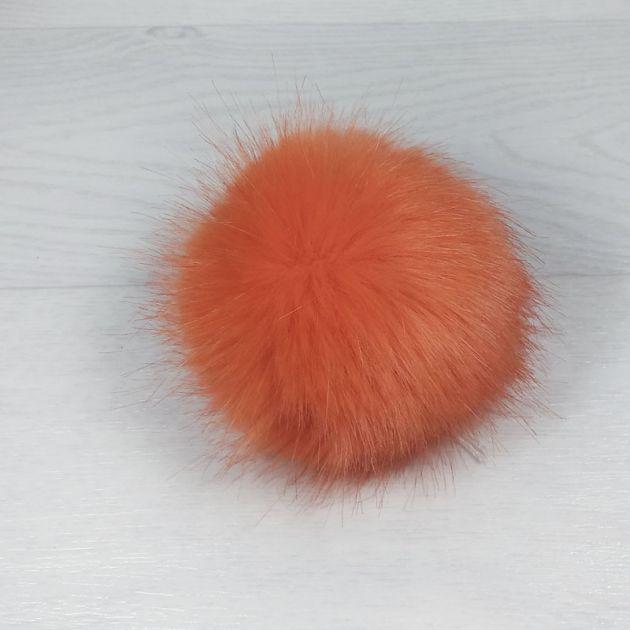 пом1003-41 Помпон из искуственного меха под норку оранжевый