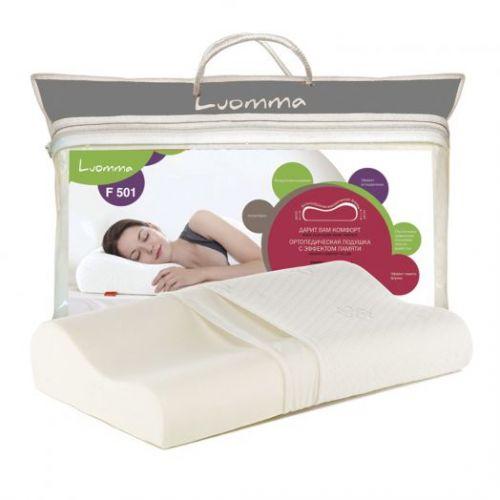 Ортопедическая подушка Luomma F-501 (12 см) с эффектом памяти.