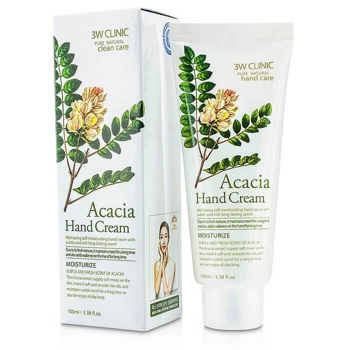 [3W CLINIC] Крем д/рук увлажняющий с экстрактом АКАЦИИ Acacia Hand Cream, 100 мл