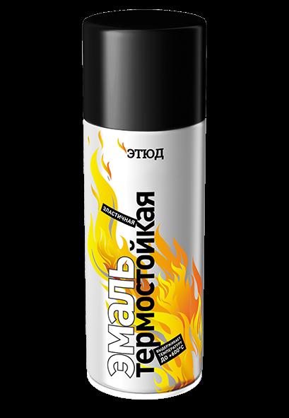 ЭТЮД Термостойкая краска в аэрозоле, 600°С, черный, 400мл.