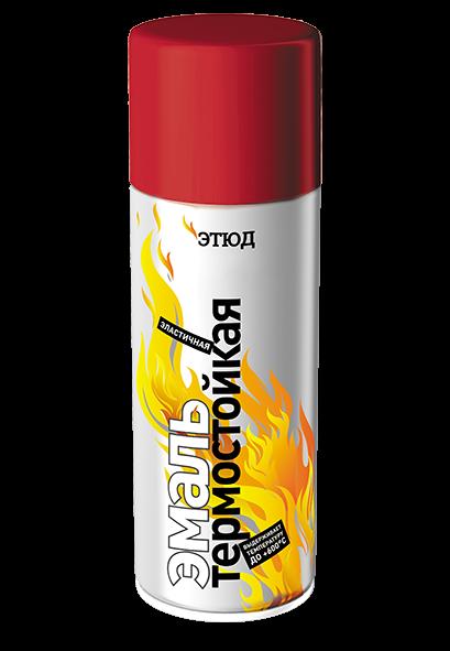 ЭТЮД Термостойкая краска в аэрозоле, 600°С, красный, 400мл.