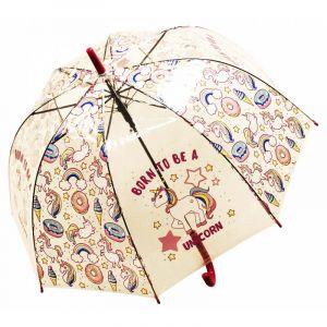 Зонт Единорог красный