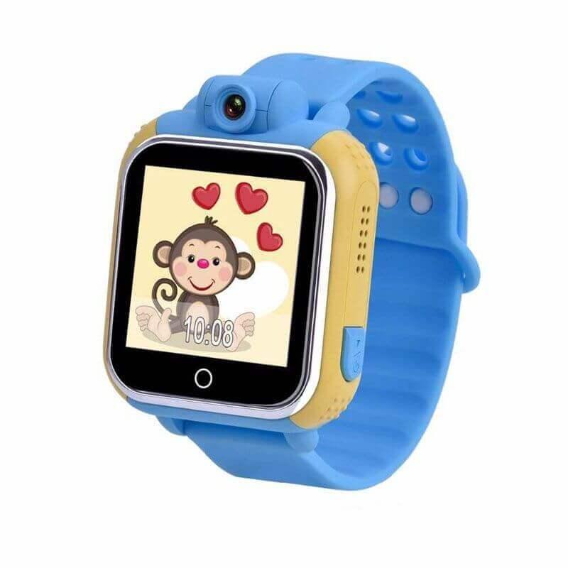 Умные Детские Часы С GPS Smart Baby Watch GW1000 (G75), Цвет Желто-Голубой