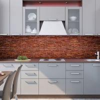 Фартук для кухни - Кирпич | интерьерные наклейки