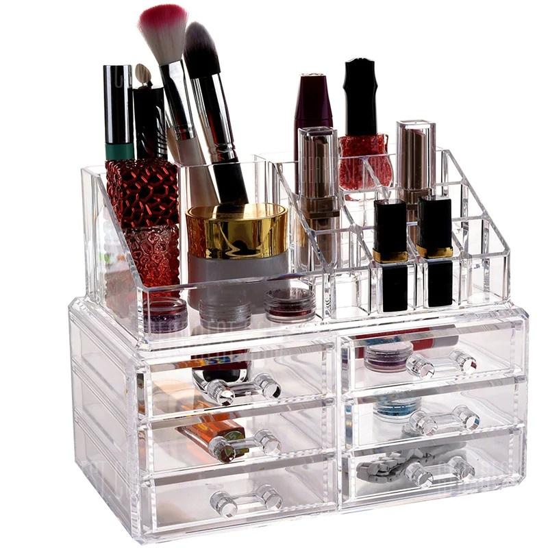 Акриловый органайзер для косметики Cosmetic Storage Box, 6 ящичков