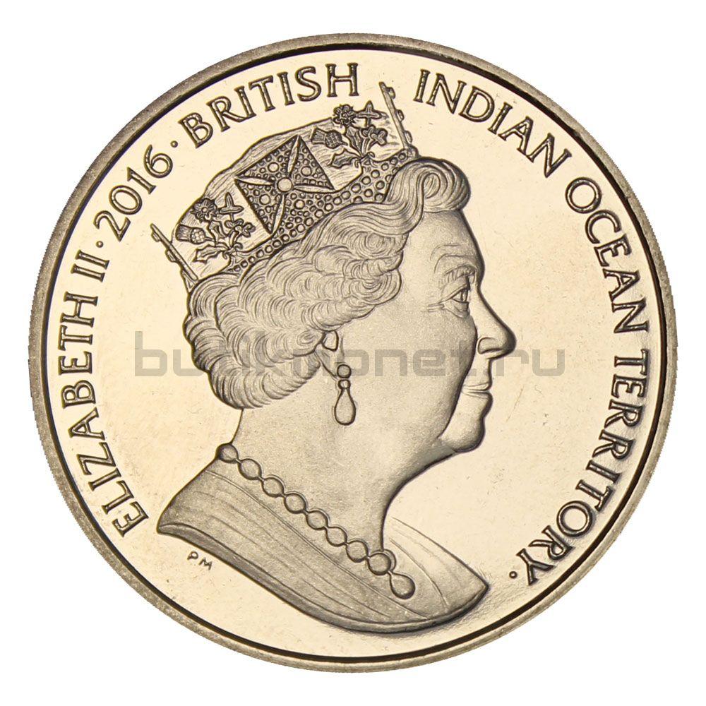 2 фунта 2016 Британская территория Индийского океана Фауна