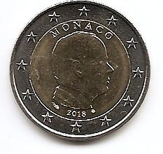 Князь Монако Альберт II (регулярный выпуск) 2 евро Монако 2018 на заказ