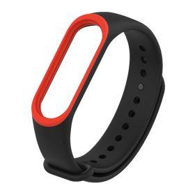 Ремешок для браслета Xiaomi Mi Band 3 черный с красным