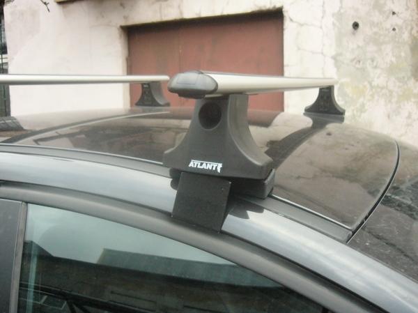 Багажник на крышу Suzuki Liana sedan, Атлант, аэродинамические дуги