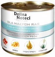 DOLINA NOTECI PREMIUM для мелких пород с телятиной, помидорами и макаронами 185г