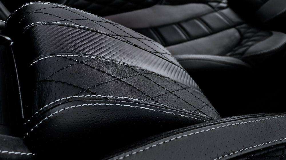 Обшивка центрального подлокотника, карбон (Range Rover Evoque)