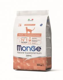 Monge Cat корм для взрослых кошек с лососем 10 кг