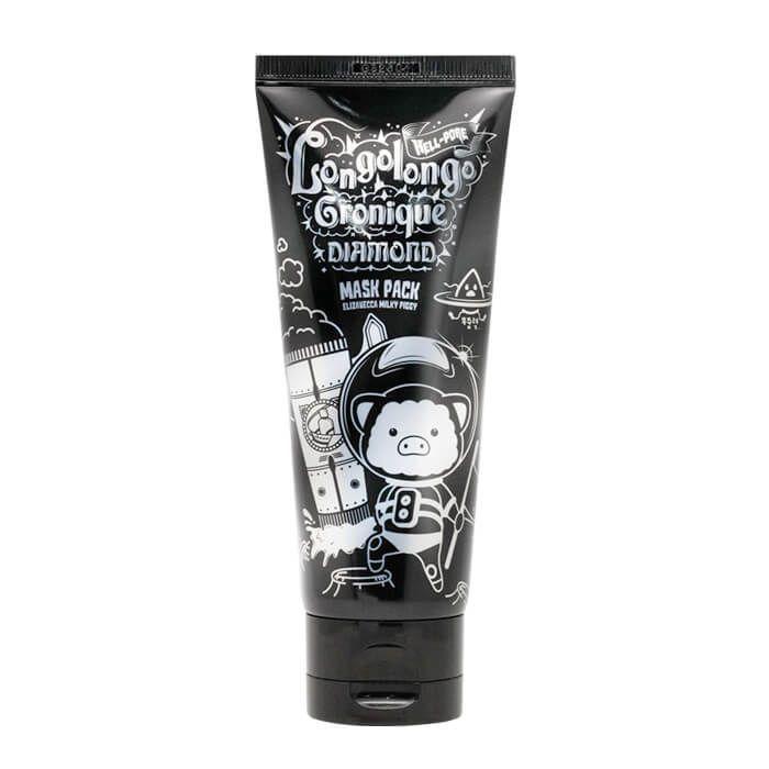 Elizavecca МАСКА-ПЛЕНКА ДРЕВЕСНЫЙ УГОЛЬ Hell-pore longolongo gronique black mask pack