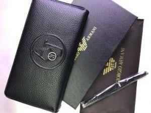 Мужское портмоне Giorgio Armani из натуральной кожи