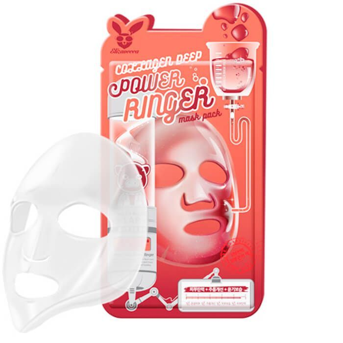 [Elizavecca] НАБОР/Тканевая маска для лица с Коллагеном COLLAGEN DEEP POWER Ringer mask pack, 10 шт
