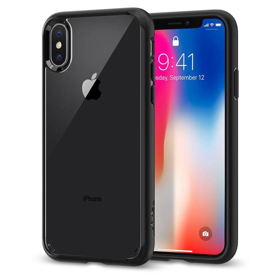 Чехол Spigen Ultra Hybrid для iPhone Xs / X черный