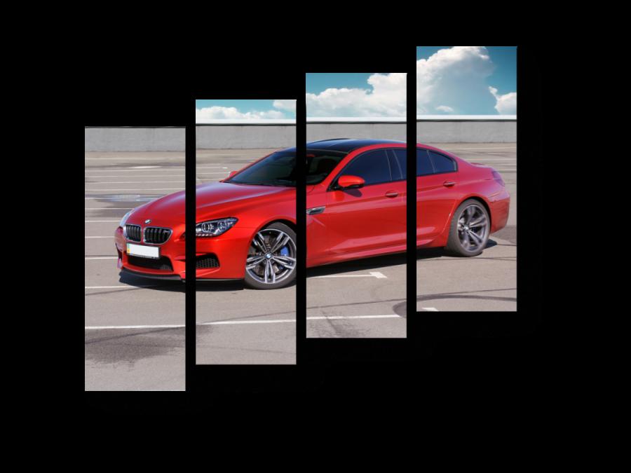 Модульная картина Красный BMW (БМВ)