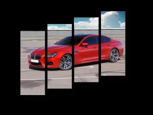 Модульная картина Красный BMW