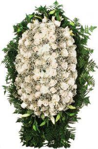 Ритуальный венок из живых цветов #12