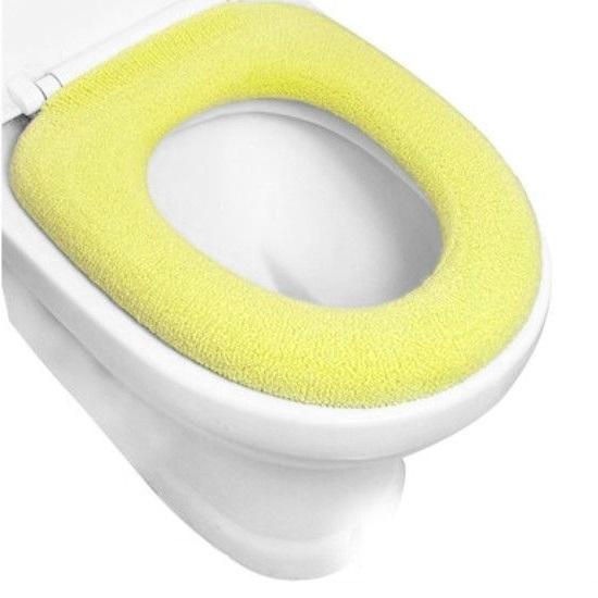 Чехол для сиденья унитаза, желтый