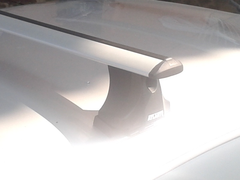 Багажник на крышу Suzuki SX4 sedan/hatchback, 2007-13, Атлант, крыловидные аэродуги