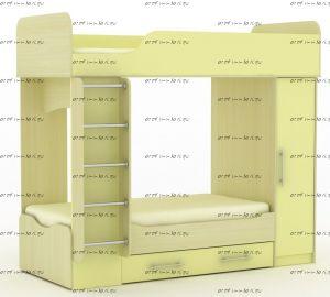 Кровать двухъярусная Карлсон Дуэт-2 (14.714)