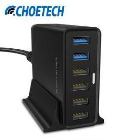 Зарядное устройство Сhoetech Q3-4U2Q (6 USB портов с двумя USB QC 3.0)